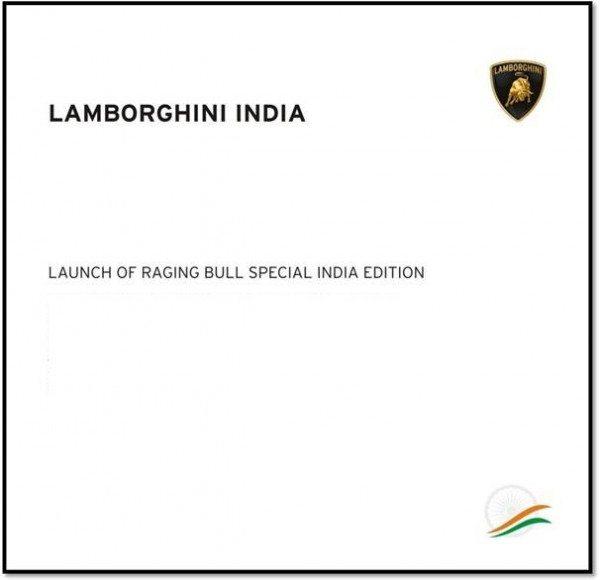 Lamborghini Gallardo India Special Edition