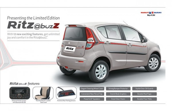 Maruti Suzuki Ritz @buzz is the new limited edition model from MSIL