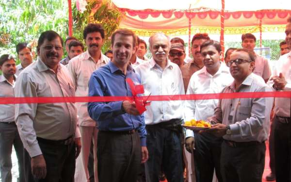 Michelin and TVS Tyres officials Inaugurate Retread facility