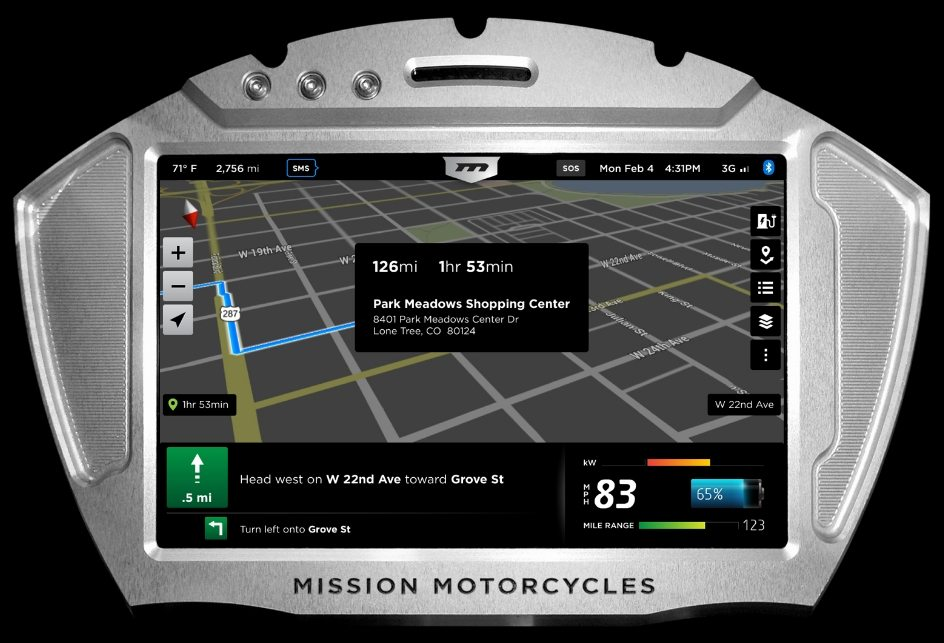 Mission Electric Superbike GPS