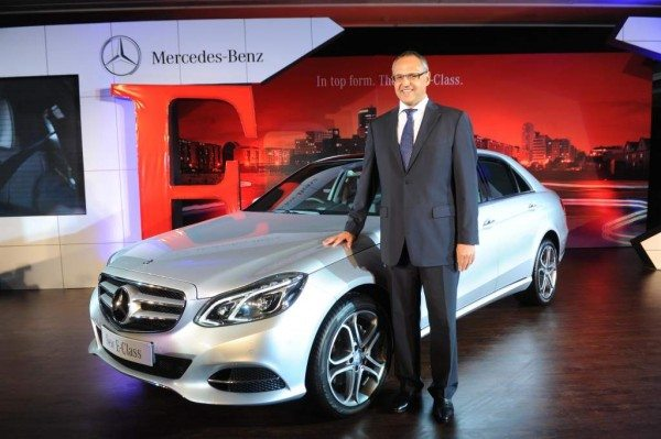 Mr. Eberhard Kern, MD& CEO Mercedez Benz India at the launch of new E Class