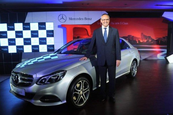 Mr. Eberhard Kern, MD& CEO Mercedez Benzi India at the launch of new E Class -3