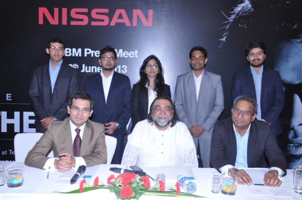 Mr. Nitish Tipnis – Director, Sales & Marketing - Hover Automotive India (National Sales Company for Nissan India) and Mr. Prahlad Kakkar – Jury Member for Nissan Student Brand Manager 2013 posing with the Nissan Micra on the sidelines of the press conference announcing the kick-off of Nissan Student Brand Manager 2013.