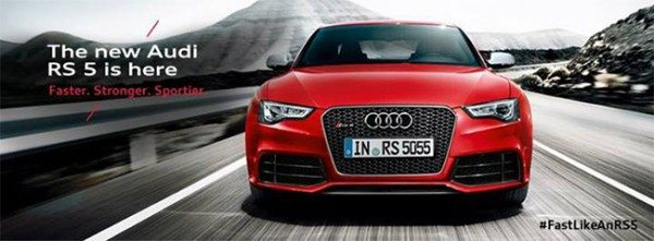 2013 Audi RS5 facelift launched in India @ INR 95.28 lakhs