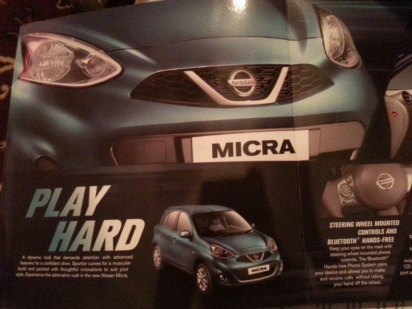 2013 Nissan Micra facelift launch brochure 1