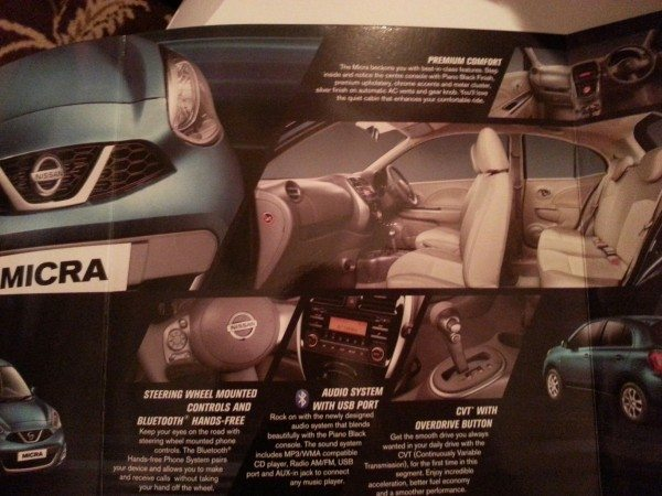 2013 Nissan Micra facelift launch brochure 3