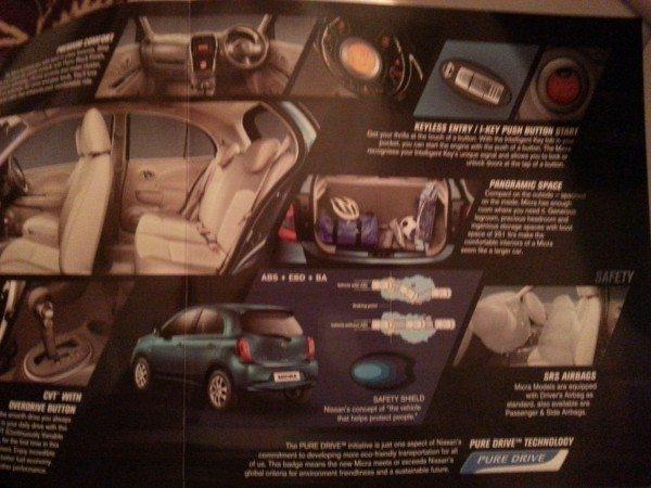2013 Nissan Micra facelift launch brochure 4