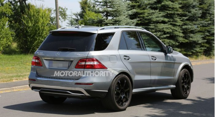 SPIED- 2016 Mercedes Benz MLC Class in M Class clothes