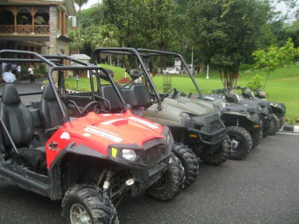 5 Polaris vehicles which were donated by Polaris to CM, Uttrakhand at CM's residence