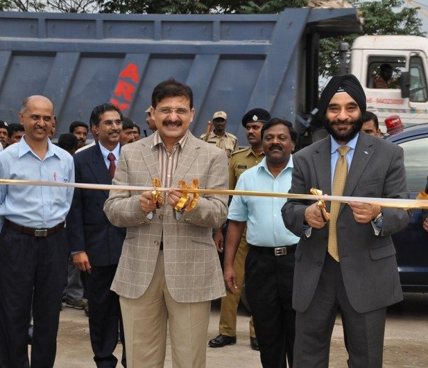 Atulya Misra Chairman Chennai Port Trust and Joginder Singh president and managing director Ford India jointly inaugurate Ford Indias first dedi[1]