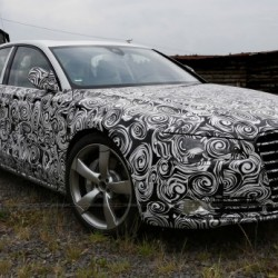 Audi A8 facelift spied inside and out