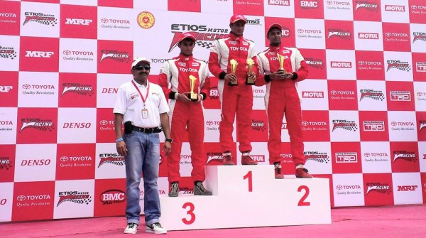 EMR Trophy winner with Mr. N.Raja, Senior Vice President, Marketing, Toyota Kirloskar Motor