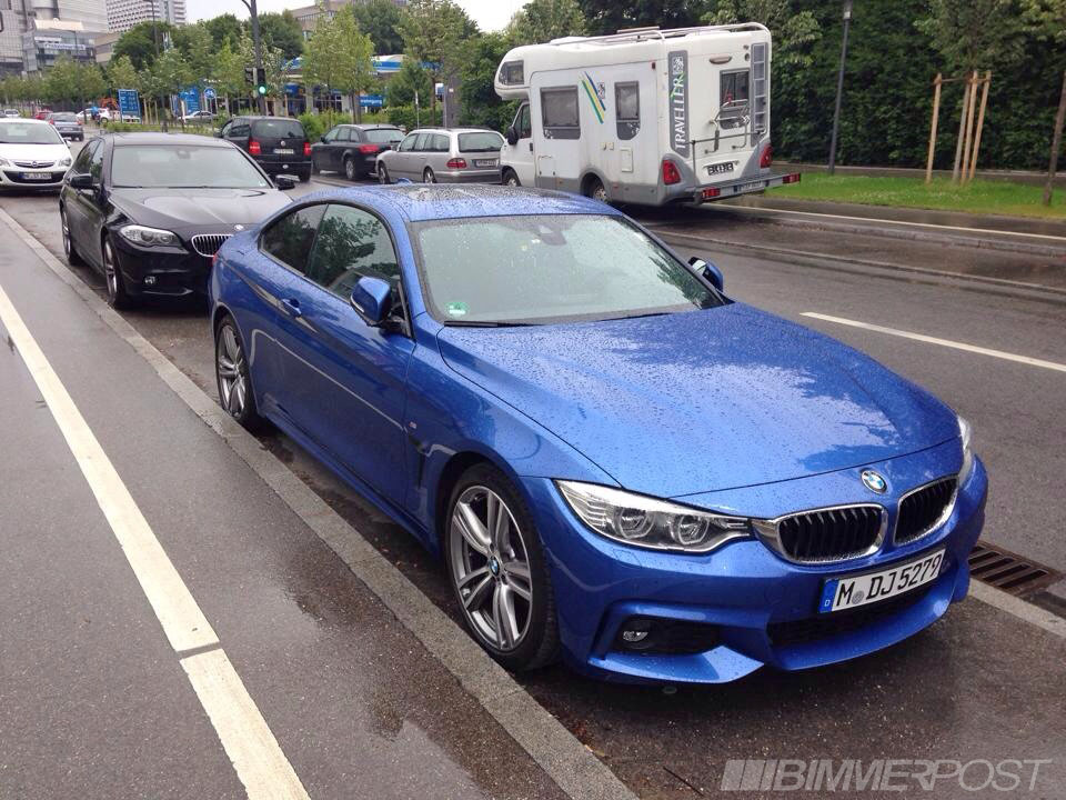 an estoril blue f32 bmw 4 series m sport spotted in munich. Black Bedroom Furniture Sets. Home Design Ideas