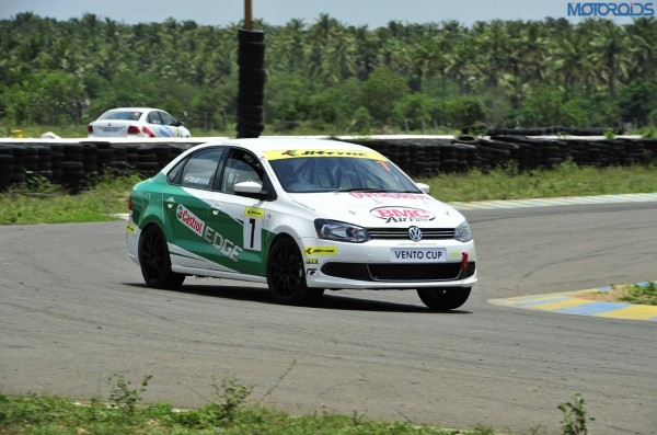 2.Siddharth Santosh in his Vento during the qualifying
