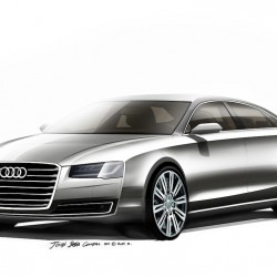 New 2014 Audi A8 facelift design sketches releases. Aug 21 unveil