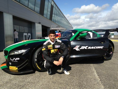 Armaan with Team India BMW Z4 GT