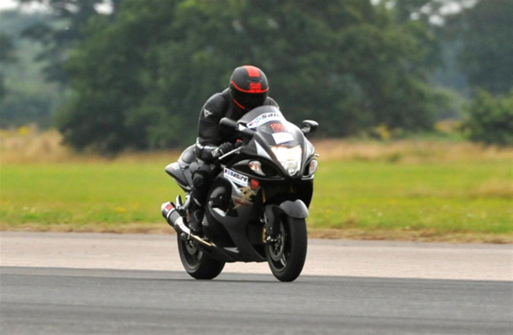 Blind biker sets motorcycle speed record