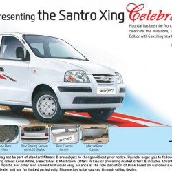 Hyundai Santro Xing Celebration Edition launched. All the details