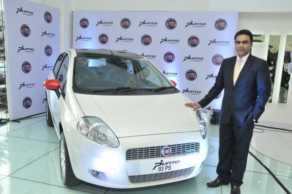 Mr.Nagesh Basavanahalli, President and Managing Director, Fiat Chrysler India Operations launches new Fiat Punto Sport 2013 in Bengaluru