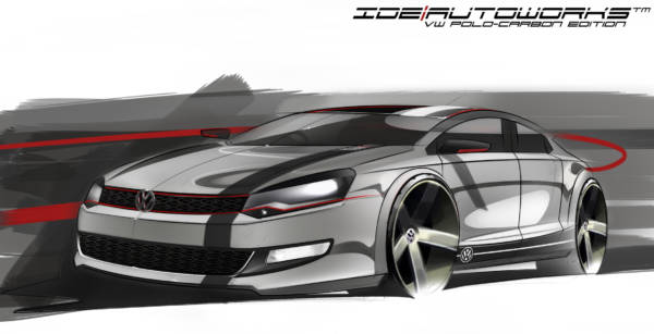 Final render of VW Polo Carbon Edition