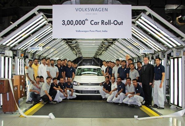 Volkswagen India rolls out the 3,00,000th car produced at its Pune Plant in Chakan-1