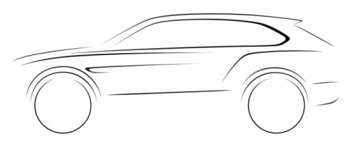 Bentley SUV design sketch