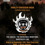 Harley Davidson Rock Riders in Delhi on 12th Sept 2013