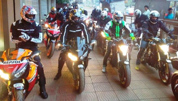 Honda Super Bike Ride Flag Off