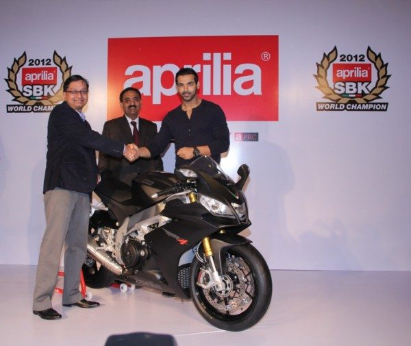 John Abraham at Aprilia event