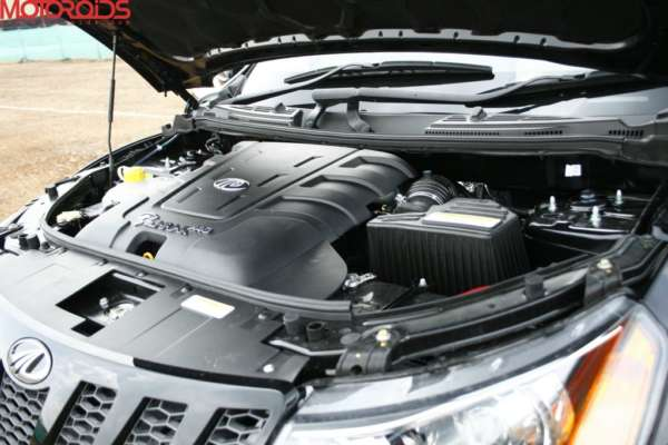 Please Note- The engine shown is that of the XUV500 diesel variant