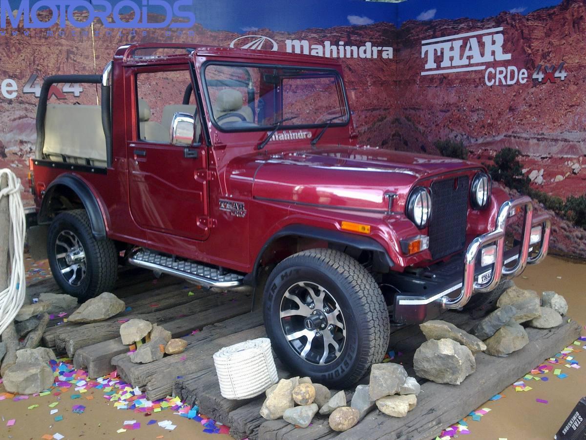 The Mahindra Thar Gets Some Minor Updates Motoroids