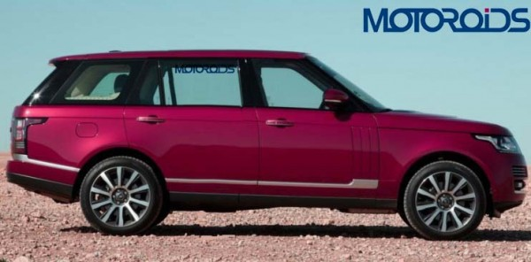 The 2013 Range Rover Long Wheelbase (LWB) looks much like what we envisioned in our digital rendering.