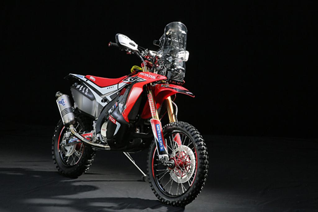 HRC unveils the 2014 Honda Dakar Rally Motorcycle   Motoroids
