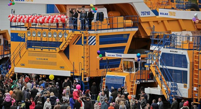 Belaz 75710 is the world's largest dump truck. Set to claim Guinness Record.