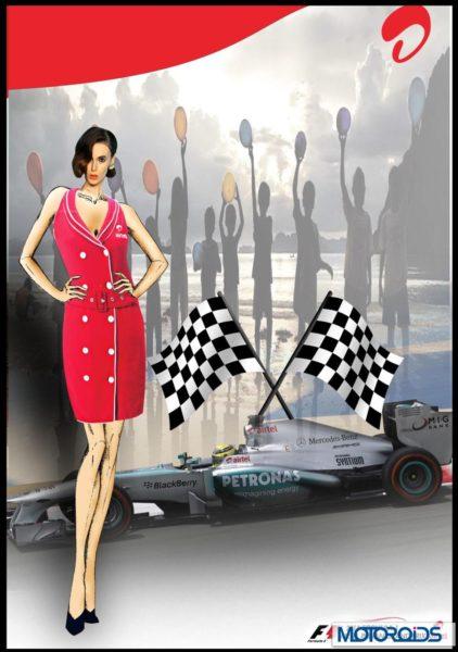 Indian F1 GP Grid girls Uniform (1)