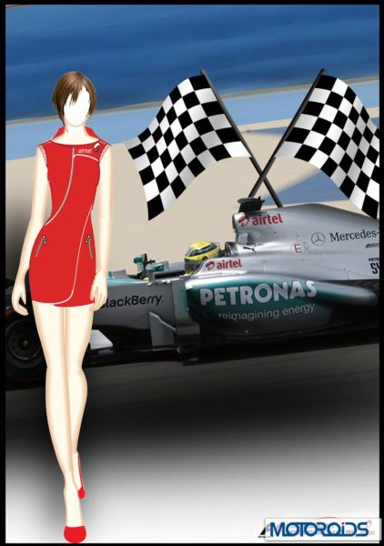 Indian F1 GP Grid girls Uniform (2)