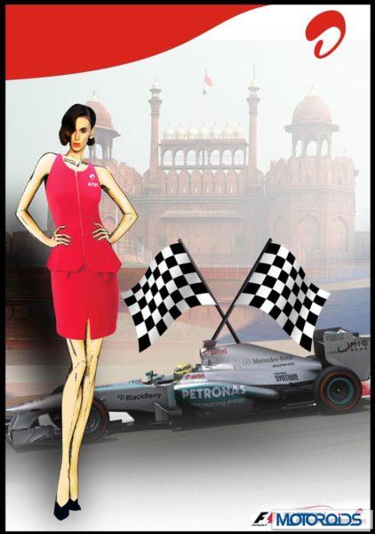 Indian F1 GP Grid girls Uniform