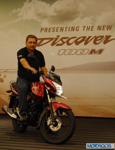 Launch of BAJAJ - Discover 100 M by K. Srinivas, President (Motorcycle Business), Bajaj Auto Ltd