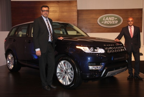 Mr. Rohit Suri, Vice President, Jaguar & Land Rover India and Mr. Del Sehmar, Head of PR and Communications at the India launch of the all-new Range Rover Sport