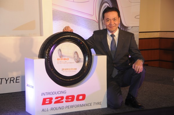 Mr.Tomio Fukuzumi, MD, Bridgestone India Pvt Ltd, Unveling B290