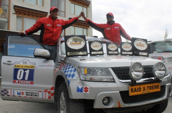 Suresh Rana of Manali and Ashwin Naik of Mangalore won the coveted crown of 15th Edition of Maruti Suzuki Raid-de-Hiimalaya X-Treme 4X4 category