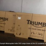 No Prizes for guessing what's inside these Triumph labelled boxes