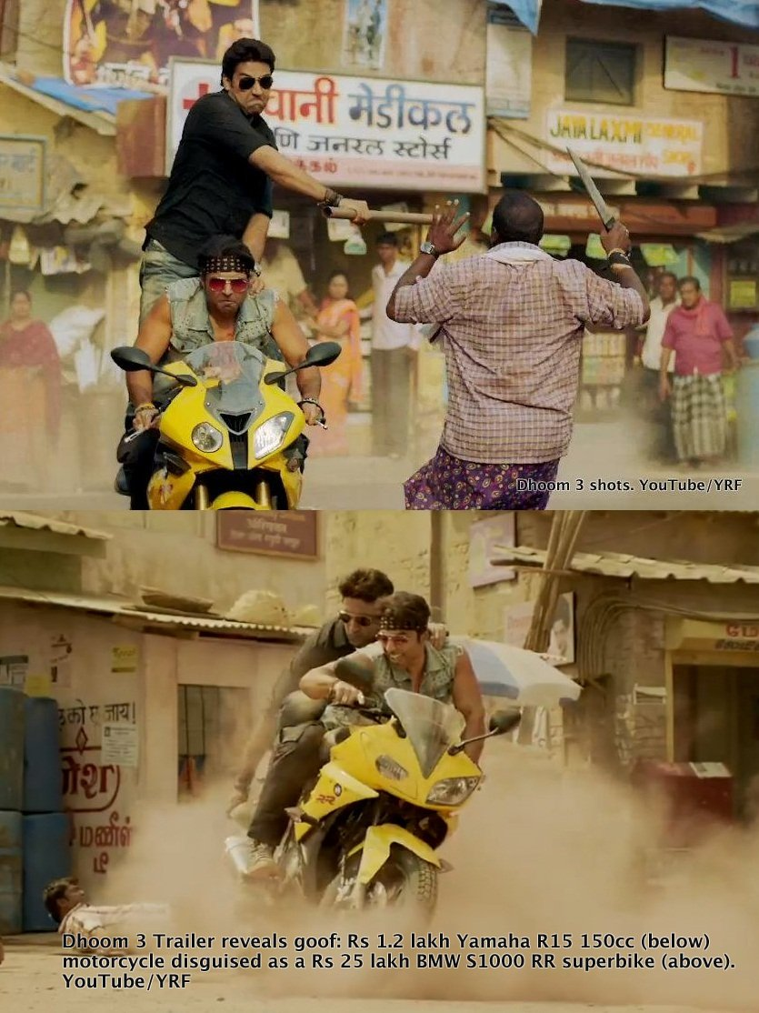 Dhoom 3 Theatrical Trailer Released Yzf R15 Becomes A Bmw S1000rr Motoroids