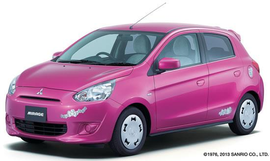 mitsubishi mirage hello kitty pics 1