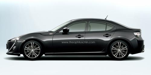 Render- Is this how the Toyota GT 86 sedan would look like?