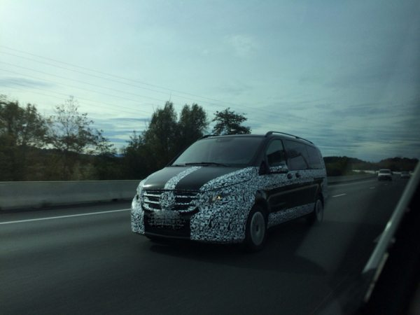 Check out the 2015 Mercedes V Class in these spy pics