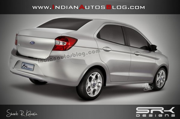 Yet another rendering of upcoming Ford Ka Sedan (Ford Figo Sedan)
