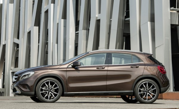 The new production spec 2015 Mercedes GLA is dimensionally very similar to the concept GLA we saw earlier