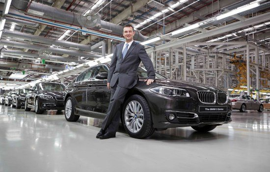 Mr. Robert Frittrang, MD - BMW Plant Chennai with the new BMW 5 Series