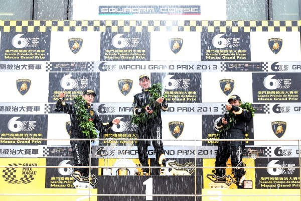 PRO-AM Champions Celebrate on the Podium at the Guia Circuit in Macau